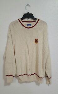 Vintage 80s Nutmeg Washington Redskins Knit Sweater VTG Size M New Condition