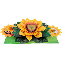 Paper Love Sunflower Pop Up Card, 3D Popup Greeting Cards, For Mothers Day, Fath