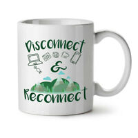 Disconnect Reconnect NEW White Tea Coffee Mug 11 oz | Wellcoda