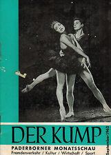 Der Kump, Paderborner Monats-Schau Paderborn September 1962 Fremdenverkehr Kunst