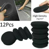 12PCS Black Foam Sponge Polish Wax Applicator Car Auto Detailing Cleaning Pad