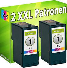 2 x DRUCKER PATRONEN für LEXMARK Nr. 1 X3450 X2310 X2315 X2330 X2350 X2450 X2470