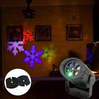 Moving Snowflake LED Laser Light Projector 2 Pattern Landscape Xmas Garden Decor