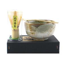 Japanese Matcha Bowl Set YUKISHINO Bamboo Scoop/80 Whisk Tea Ceremony/Made Japan