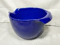 Vintage McCoy Pottery Mixing Bowl / Batter Bowl #129, Cobalt Blue