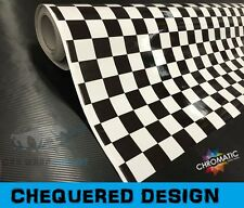 Chequered Flag Sticker Bomb Car Wrap Vinyl 152 x 90cm - Wrapping Film Foile