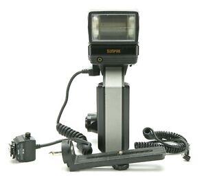 Vintage Sunpak Auto 622 SUPER Pro-System Flash w/NE-2D Hot Shoe f/Nikon. Tested.