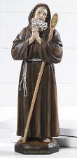 Statua San Francesco di Paola in resina h 31 cm art. religiosi Paben