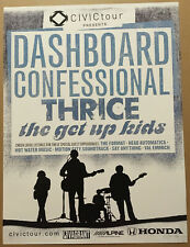 Dashboard Confessional & Thrice Rare 2004 Tour Promo Poster 4 Mark Cd 18x24 Mint