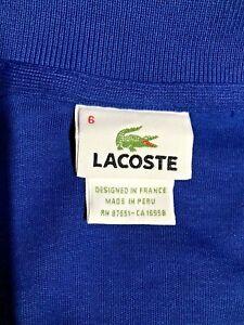 LACOSTE 1/2 Zip Sz 6 Mens Pullover Sweater Long Sleeve Blue
