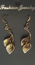 Calla Lily earrings yellow,  yellow ear wire, new unused