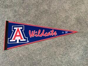 """1990s Arizona Wildcats Football Logo Football Pennant Full Size 29 1/2"""""""