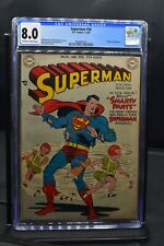 Superman #56 CGC 8.0 DC Golden Age Comics 1949 HIGH GRADE Prankster Appearance