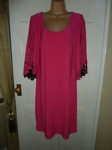 Bnwts Joseph Ribkoff cerise pink 3/4 sleeve dress size 16