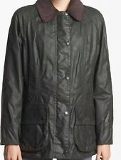 Barbour Beadnell Jacket Sage USA Size 8 Waxed Cotton NWT
