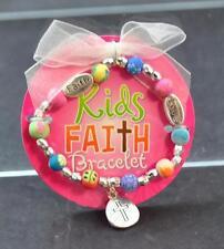 Jilzara Girls Love Faith & Cross Charm Bracelet Polymer Clay Beads Age 3-6 W4