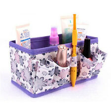 Makeup Cosmetic Storage Bag Bright Organiser Foldable Stationary Container