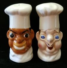 Vintage 1990 Sarsaparilla Chef Salt and Pepper Shakers