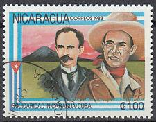Nicaragua Briefmarke gestempelt Solidarität Cowboy Landschaft Berg Natur / 118