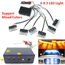 Car SUV LED Strobe Emergency Flashing Police Warning Grill Light Lamp 12V Superb