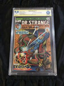 Marvel Comics 1974 Doctor Strange #1 CBCS 9.0 VFNM SIGNED Artist Frank Brunner