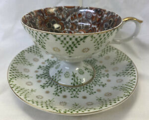 Royal Paisley Chintz ~Red PAISLEY w/Green ~# 1931 Tea Cup & Saucer ~England~