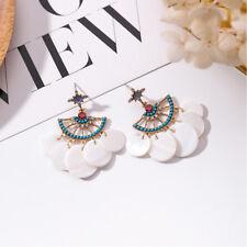 Fashion Unique Earrings Scalloped White Shell Tassel Earrings For Women Gift