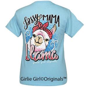 "Girlie Girl Originals ""Mama Llama"" 2381 Sky Blue Short Sleeve T-Shirt"