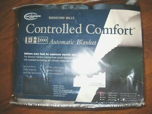 Biddeford Mills controlled comfort Automatic Heated Blanket Twin EH2000 NEW