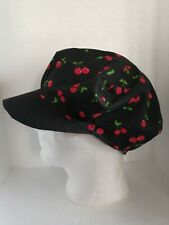 Cotton Cherry/Black Hat Reversible Adult Unisex One Size