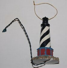 Black White Striped Lighthouse Christmas Tree Ornament Light Up Decoration