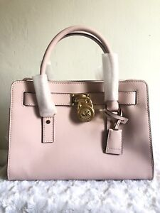 Michael Kors Hamilton Satchel Bag with Gold Chain - Pink MSRP $298