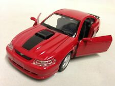 "2003 Ford Mustang MACH 1 Collection 5.75"" DieCast 1:32 Pull Back NewRay Toys Red"