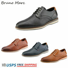 Bruno Marc Mens Casual Shoes Round Toe Classic Lace-up Oxford Shoes Dress Shoes