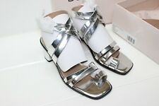 8b3e0f837 BCBGeneration Womens erica Open Toe Casual Ankle Strap Sandals Metallic
