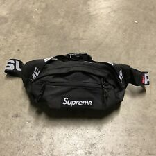Brand New Deadstock SS18 Supreme Waist Bag Black Cordura Fabric