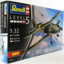 "Revell 1:32 03886 Bucker Bu 131 ""Jungmann"" Model Aircraft Kit"