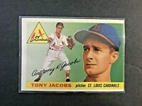 1955 Topps Baseball Card # 183 Tony Jacobs  St. Louis Cardinals  EX+ Condition