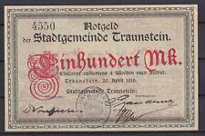 Traunstein  -  Stadtgemeinde  -  100 Mark  -  ohne SB