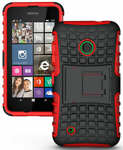 RED GRENADE GRIP RUGGED TPU SKIN HARD CASE COVER STAND FOR NOKIA LUMIA 530 PHONE