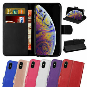 PU Leather Wallet Case License Slot Flip Case For Iphone XR XS Max 7 8 6 SE 2020