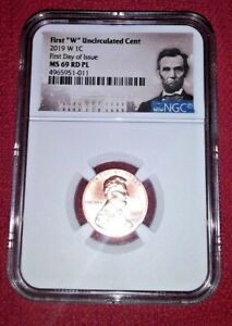 2019 W LINCOLN CENT 1C UNC NGC MS 69 RD PL (Proof Like) FIRST DAY OF ISSUE