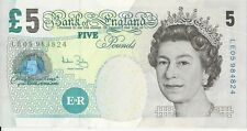 BRITISH FIVE POUNDS BANKNOTE REAL CURRENCY