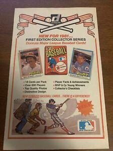 1981 Donruss Advertisement MIKE SCHMIDT GEORGE BRETT Oddball