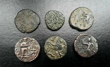 Rare Ancient Indo- Greek Kingdom Bronze Coin Group (6) 174-165 B.C. + or -