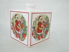* BOITE PERE NOEL PORCELAINE ANGLAISE COVERSWALL HARRODS 10.5 cm x 10.5 cm