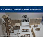 1/35 Scale Berlin Wall Checkpoint Set Tank Scene DIY Wooden Assembly Model Kit