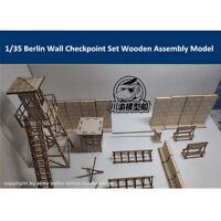 1/35 Scale Berlin Wall Checkpoint Set Tank Scene DIY Wooden Assembly Model Kit