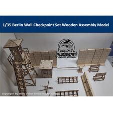 1/35 Scale Berlin Wall Checkpoint Set Tank Scene DIY Wooden Assembly ModelCYH012