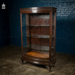 19th C Bow Fronted Glazed Confectionery Cabinet